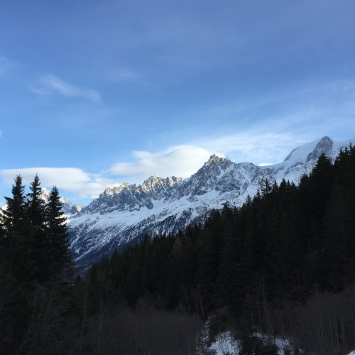 Vue sur l'Aiguille du Midi